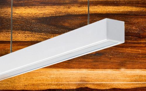 lámpara listón colgante tubo 1x18w plafon acrilico embutido
