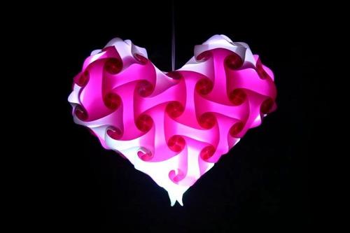 lampara lounge en forma de corazon mm13
