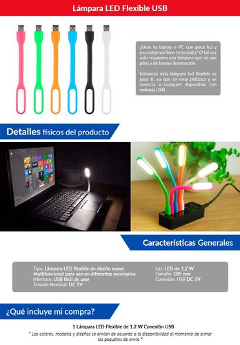 lámpara luces led flexible usb laptop luz fuerte tienda