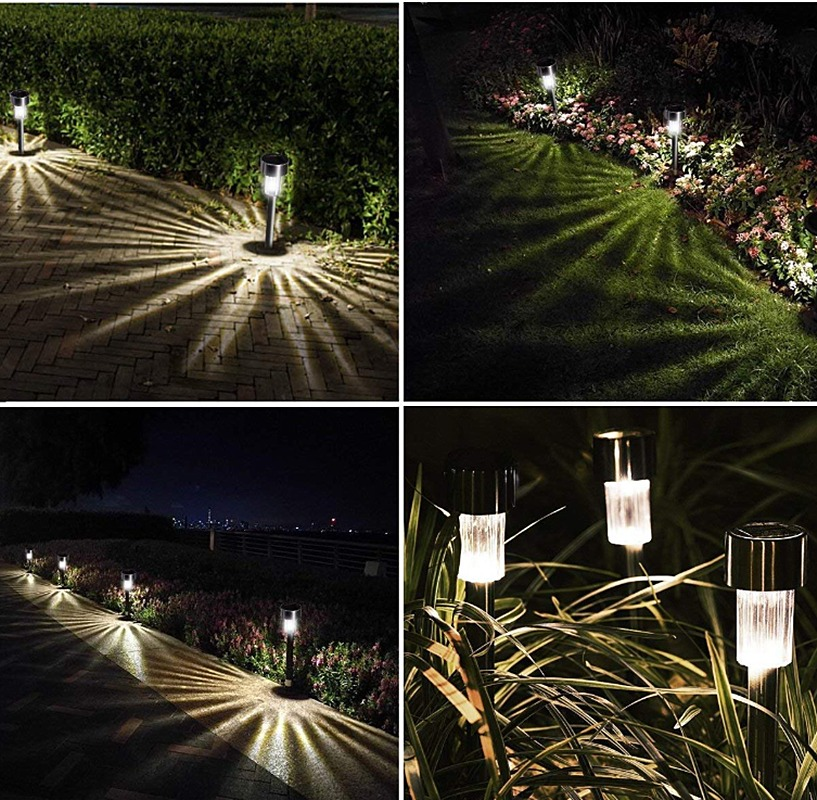 Lampara Luces Solares Jardin Led Exterior Impermeables Luz