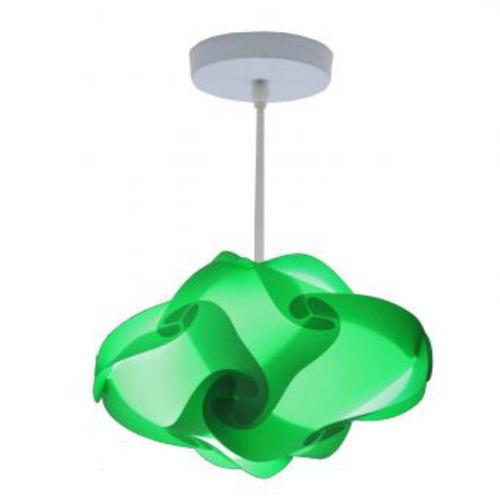 lámpara lumbra pola de techo xxl-verde