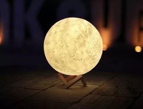 Luna Moon Moonligh Lámpara Cm Light 13 Luna Llena 3d Usb 0OPwkn