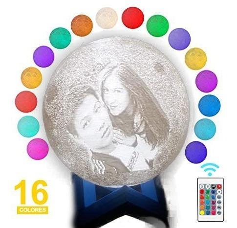 Colores Lampara Luna Personalizada Y Con Foto Frase16 D9H2IE