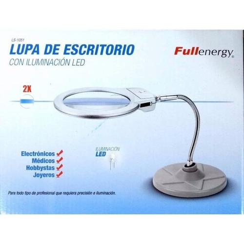 lampara lupa d mesa luz led a pila brazo flexible escritorio
