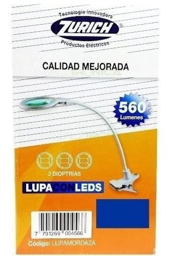 lampara lupa flexible pinza 3d 30led 560lum zurich