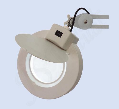 lámpara lupa multipropósito de pedestal 5 dioptrías flexible