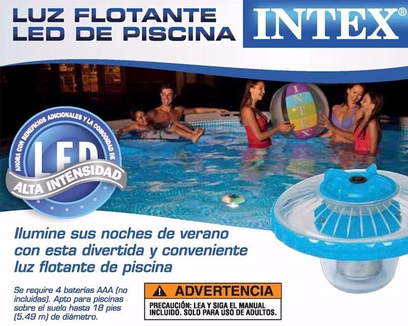 L mpara luz alberca iluminaci n led piscina flotante intex for Precio alberca intex