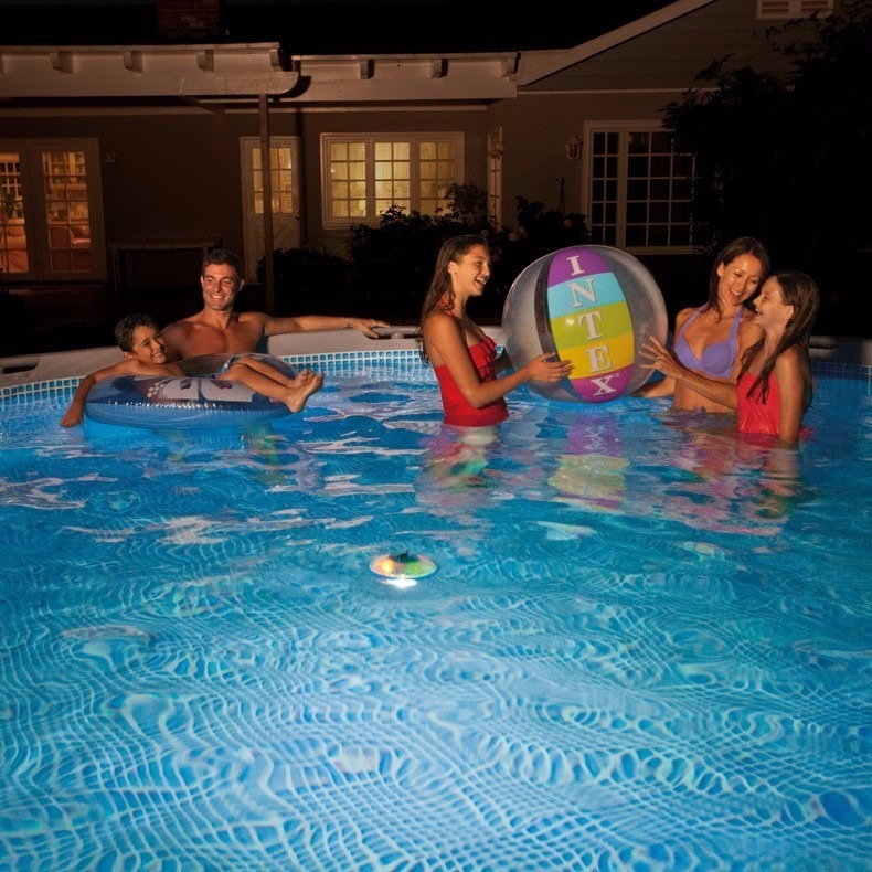 L mpara luz alberca iluminaci n led piscina flotante intex for Iluminacion alberca