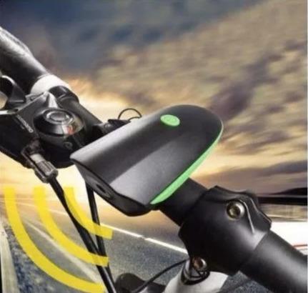 lampara luz con claxon usb recargable bicicleta bici