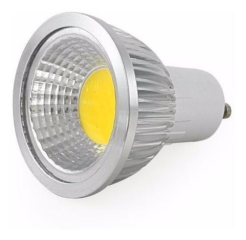lampara luz dicroica led 4w cob gu10 220v calida y frio