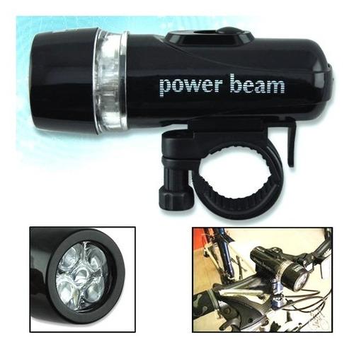 lámpara luz led frontal bicicleta seguridad accesorios