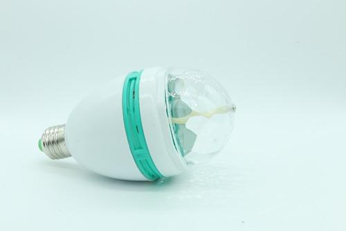 lampara luz led giratoria full color fiestas boliche e27