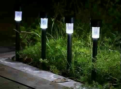 Lampara luz led panel solar para exteriores jardin hogar for Lamparas led para jardin
