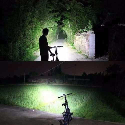 lampara luz linterna bicicleta x2 led cree 8000lm recargable