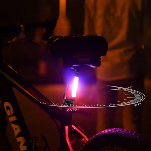 lampara luz usb led bicicleta recargable códigos policía