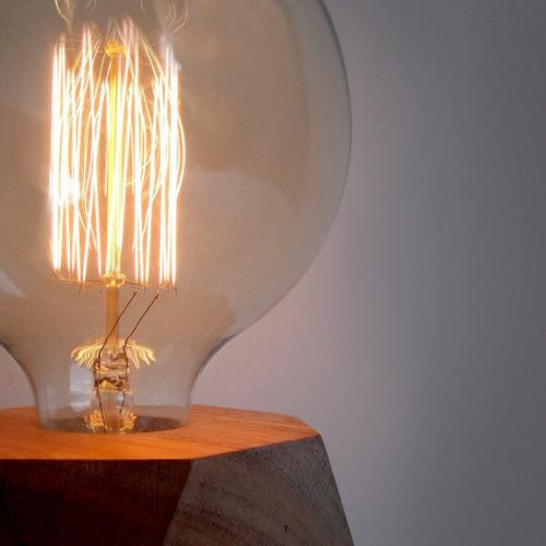 lámpara madera nórdico ángela filamento klik iluminación