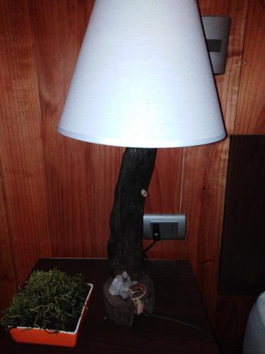 lámpara   madera rustica