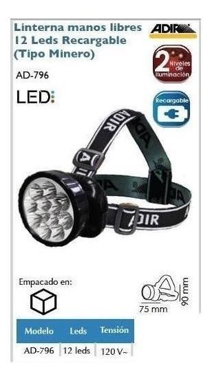 796 Manos Leds Lampara Recargable Minero Ad Tipo Libres 12 cjq3RA5L4