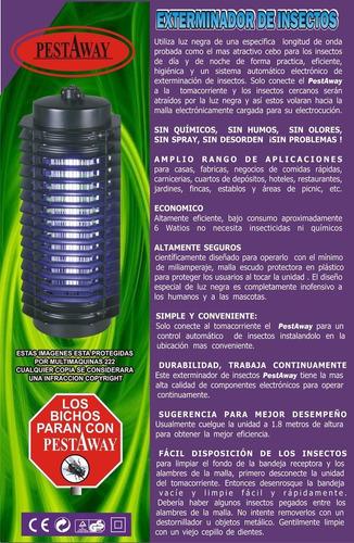 lampara mata insectos  zancudos mosquitos