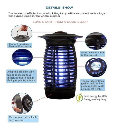 lampara mata mosquitos zancudos insectos voladores eléctrica