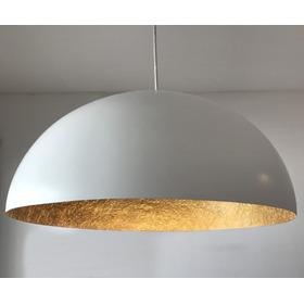 Lámpara Media Esfera En Resina, Fibra De Vidrio 60cm