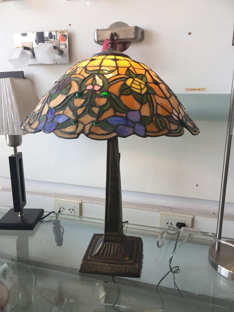 Lampara Mesa 60cms Comedor Libelula Tiffany 60x40