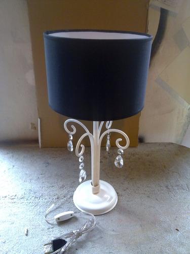 lampara mesa artesanal,hierro forjado,fabrica,decoraciones