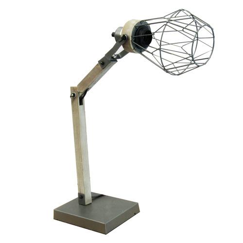 lampara mesa foco hierro forjado madera 33115/ fernapet