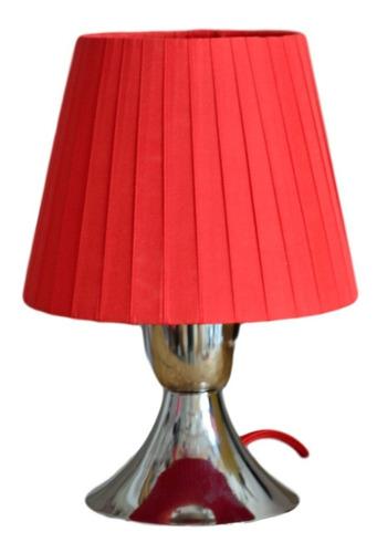 lampara mesa niñas niquel 1 luz led filamento incluido