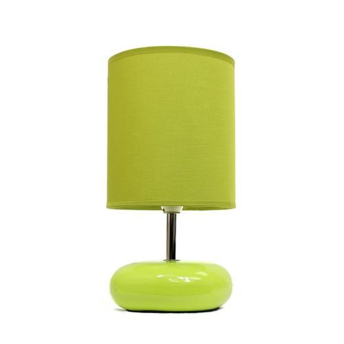 lmpara mesa noche escritorio s designs base piedra verde - Lamparas Mesita Noche