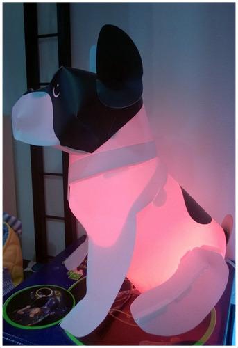lampara mesa - piso bulldog francés