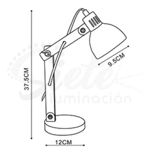 lámpara mesa velador