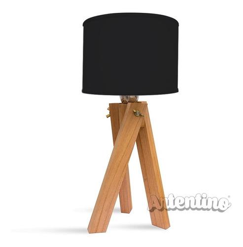 lampara mesa velador madera nordica deco regalo diseño