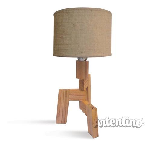lampara mesa velador madera nordica regalo deco diseño