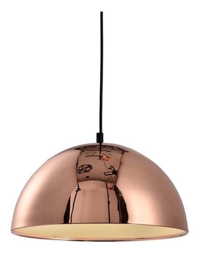 lámpara  metallo colgante media esfera cobre metal living ff