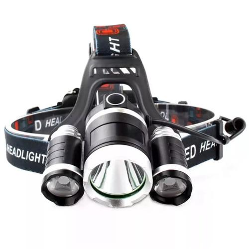 lampara minera 5000 lumens 3 cree led t6 recargable
