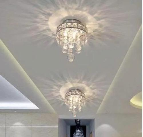 lampara mini candelabro de cristal decoracion foco
