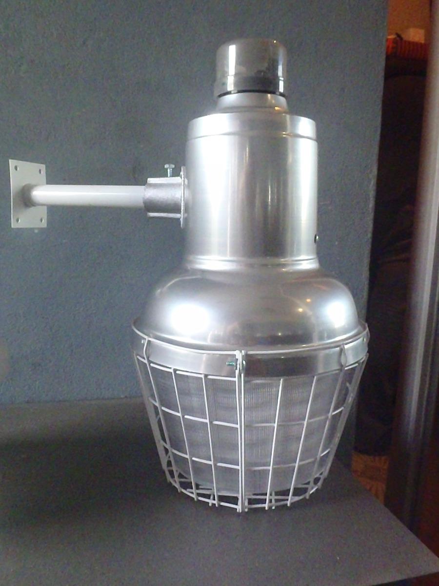 lampara mini suburbana para exterior con foco ahorrador