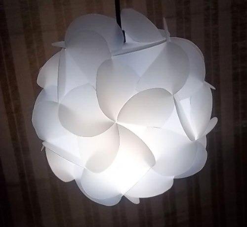 lampara moderna cm dimetro blanca