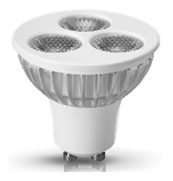 lámpara mr16 base gu5,3 ledion 3watts 12 volts blanco cálido
