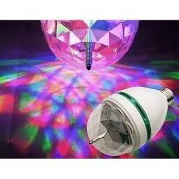 lámpara multicolor led giratoria. luz de color base girator