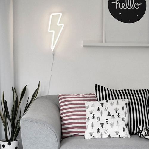 lampara neon led decoracion rayo cactus love unicornio nube