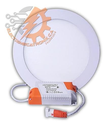 lampara panel led 12w hammer empotrable circular luz blanca
