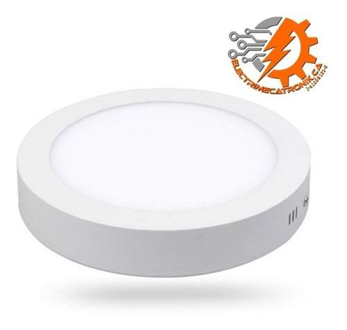 lampara panel led 12w hammer superficial circular luz blanca