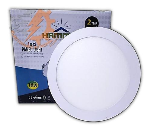 lampara panel led 18w hammer empotrable circular luz blanca