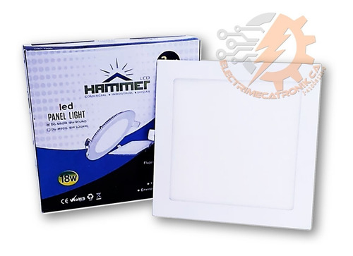 lampara panel led 18w hammer empotrable cuadrado luz blanca
