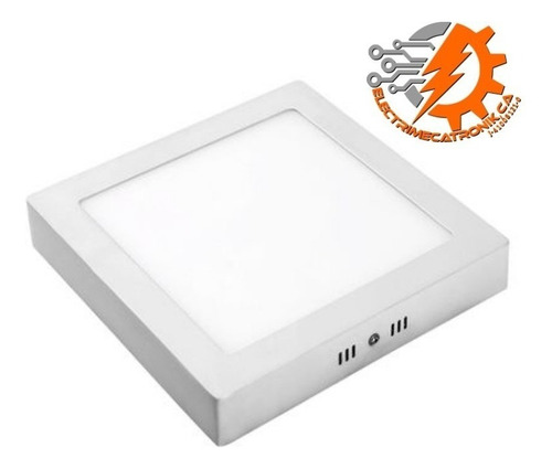 lampara panel led 24w hammer superficial cuadrado luz blanca