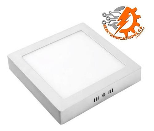 lampara panel led 6w hammer superficial cuadrado luz blanca