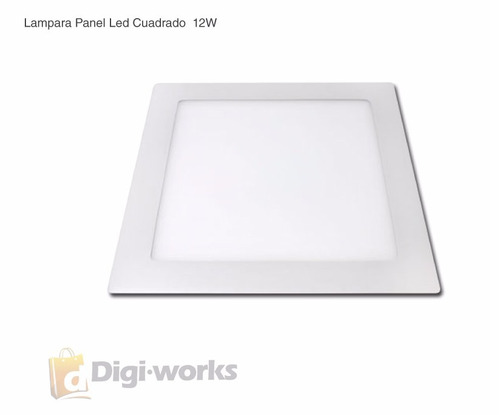 lampara panel led cuadrado luz blanca 12w ultima tecnologia