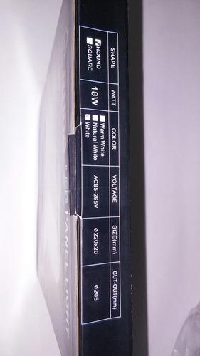 lampara panel led de 18w para empotrar mayor 6.5v original